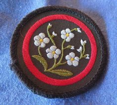 Vintage Old-Style Girl Guiding Patrol Sew-On Emblem Badge - Iris **NEW**
