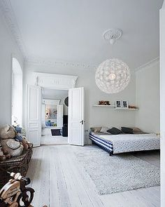 bedroom in white: via FFFFOUND!