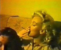 Marliyn Monroe smoking a joint in a rare photo!