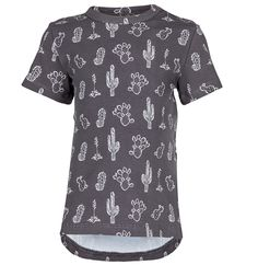 nOeser T-Shirt All-Over Cactus Antraciet