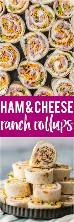 These HAM AND CHEESE RANCH ROLLUPS are the ultimate party appetizer for any holiday get together. These are a must for Christmas. Better make a double batch. #holiday #christmas #appetizer #easyrecipe via @beckygallhardin