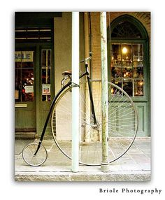 New Orleans Photography French Quarter Vintage Bicycle by Briole, $30.00
