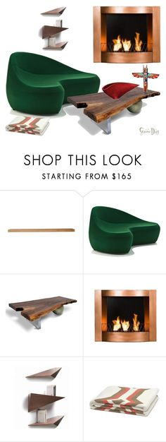 """Hot Springs, Virginia"" by southernreef ❤ liked on Polyvore featuring interior, interiors, interior design, home, home decor, interior decorating, WALL, MOROSO, Rotsen Furniture and Southern Enterprises"