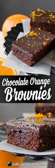 Chocolate Orange Brownies from http://dishesanddustbunnies.com