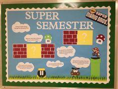 Super Mario bulletin board.