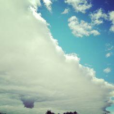 Unusual sky shot in Kokshetau, photo by Diankadii