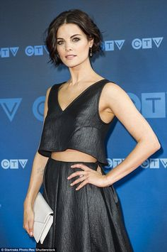Get inspired with www.naranadesign.com       #fashioninspiration (source: @ Jaimie Alexander looks stylish in crop top and skirt at Toronto event)