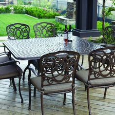 Darlee Florence 8 Person Cast Aluminum Patio Dining Set   Antique Bronze By  Darlee.