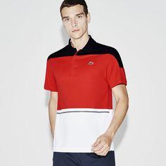 Polo tricolor Tennis Lacoste SPORT em piqué técnico