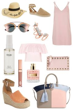 Summer fashion. Summer fashion ideas. What To Wear In The Summer. Summer Outfits. Summer Looks. Blush Dress.