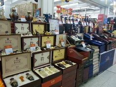 Beautiful  Boxes Of #Liquor. #Wal-Mart, #bizarre, #unusal, #different, #shopping, #retail, #weird