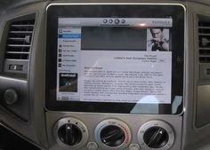 iPad in the Dash