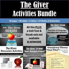The Giver Activity Bundle: Buy Together and Save!