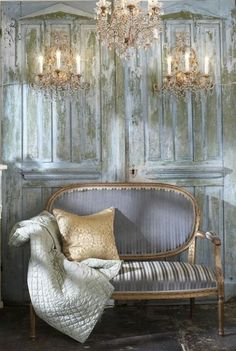 Grays, Gold, French country décor.