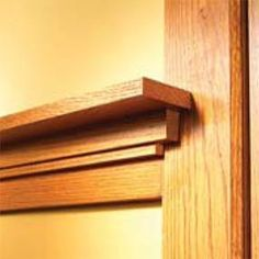 How to Install Craftsman Window Trim and Craftsman Door Casing - How to Install Craftsman Trim Stylish Arts-and-Crafts woodwork built up from simple oak boards - Arts And Crafts House, Arts And Crafts Furniture, Craftsman Interior, Craftsman Door, Craftsman Window Trim, Trim Carpentry, Craftsman Windows, Craftsman Trim, Craftsman Style Homes