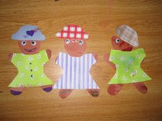 In addition to setting up the three bears' cottage in our dramatic play area, here are some other activities related to the story of Goldilocks and the Three Bears.Dressing Bears I cut out be…