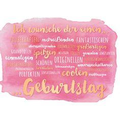 Geburtstag/Bild1 Happy Birthday Gifts, Very Happy Birthday, It's Your Birthday, Happy Name Day Wishes, Happy B Day, Foundant, Bday Cards, Sweet Words, I Am Awesome