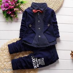 Checkout this latest Clothing Set Product Name: *Kids Ethnic Wear Boys Waistcoat Shirt Tie and Paint Set* Top Fabric: Cotton Bottom Fabric: Cotton Sleeve Length: Long Sleeves Top Pattern: Printed Bottom Pattern: Printed Multipack: Single Sizes: 6-12 Months (Top Chest Size: 52 in, Top Length Size: 34 in, Bottom Length Size: 47 in)  1-2 Years (Top Chest Size: 55 in, Top Length Size: 36.5 in, Bottom Length Size: 50.5 in)  3-4 Years (Top Chest Size: 61 in, Top Length Size: 41.5 in, Bottom Length Size: 58.5 in)  Easy Returns Available In Case Of Any Issue   Catalog Rating: ★4.2 (4540)  Catalog Name: Kids Ethnic Wear Boys Waistcoat Shirt Tie and Paint Set CatalogID_1095039 C59-SC1182 Code: 575-6859743-9651