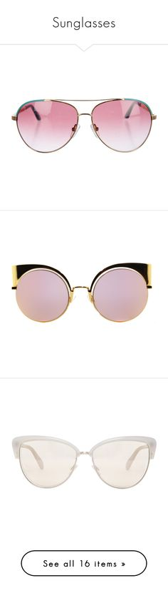 """""""Sunglasses"""" by patriciaaa02 ❤ liked on Polyvore featuring accessories, eyewear, sunglasses, glasses, gold, gradient aviator sunglasses, pink tinted glasses, gradient sunglasses, tinted lenses glasses and tinted sunglasses"""