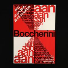 Last AS poster of this season! – Post by @daan_rietbergen . . #typography #typographicposter #graphicdesign #graphicposter #poster #posterdesign #posterseries #boccherini #helveticaneue #hommage #amsterdam #sinfonietta