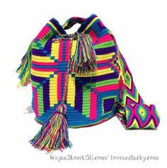 Authentic Wayuu Bag. Wayuu Mochila Bag tightly by loveandlucky, $120.00