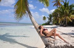 Working hard sometimes could be exhausting! What is better then taking a sunbath on the beach full of palms? #holidays #beach #nature #workhard