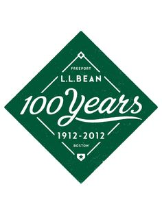 LLBean anniversary logo used on Fenway Tarp Totes. using this bag now :) Typography Logo, Graphic Design Typography, Logos, Logo Branding, Branding Design, Vintage Typography, Typography Letters, Lettering, 100 Logo