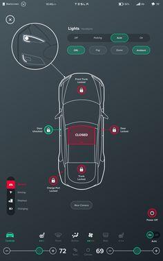 """Inspiriert vom tollen 17"""" Touchscreen im Tesla Model S haben wir ein Interface Konzept für eine neue Generation von Fahrzeug-Infotainment Systemen entworfen. Unser Konzept basiert dabei auf einem flexiblen Grid das verschiedene Widgets beherbergt die beliebig kombiniert werden können. Sowohl die Größe als auch die Position dieser Widgets kann vom Fahrer vollkommen frei konfiguriert werden [...]"""
