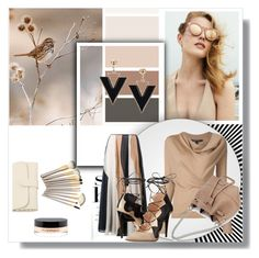 """""""Always A Winner With Taupe & Black..."""" by audrey-prater ❤ liked on Polyvore featuring Roksanda, Ruthie Davis and MAC Cosmetics"""