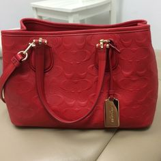 Extra pics. See other listing Authentic coach red leather purse. These are extra pics. See other listing for full description/ details Coach Bags Crossbody Bags