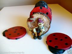 Ladybug coasters for the cottage or home. How cool is that?