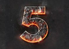 Flames text creative psd material - Other PSD free download