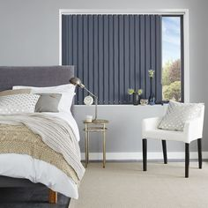 Vertical blinds offer shading flexibility and privacy, along with modern clean lines and stunning fabrics. http://www.blindsboutique.co.uk/vertical-blinds-108/