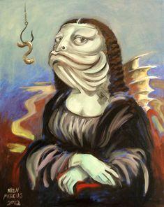 0251 [Ellen Marcus] Mona Lisa as a fish
