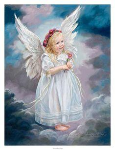 Есть ангелы у каждого из нас... Художница Sandra Kuck.. Обсуждение на LiveInternet - Российский Сервис Онлайн-Дневников