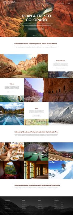 Website Redesign: Explore Colorado Travel Guide on Behance