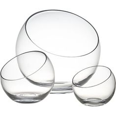 Tilt Bowls | Crate and Barrel - because you need something cool to hold your snacks