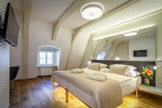 Hotel Golden Star is located in Nerudova Street in the historical center only a few steps from the Prague Castle Gate; Decor, Furniture, Home, Hotel, Castle Gate, Bed