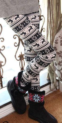 Snow Envy Stripe Leggings