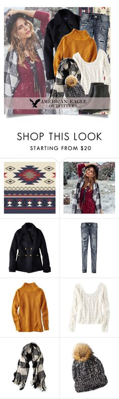 """""""Winter Wanderlust with American Eagle Outfitters ~ Contest Entry"""" by boxthoughts ❤ liked on Polyvore featuring American Eagle Outfitters and aeostyle"""