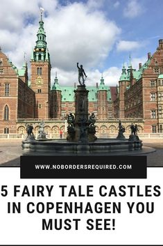 Here are the 5 best castles to visit in Copenhagen if you want to see fairy tale medieval castles, moats, beautiful gardens, and royal crowns! Top Travel Destinations, Europe Travel Tips, European Travel, Places To Travel, Copenhagen City, Copenhagen Travel, Helsingor, Castles To Visit, Denmark Travel