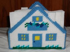 Custom Cottage House Napkin Holder All Occasion by cecrafts, $6.00