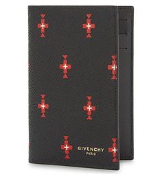 GIVENCHY Totem Cross Leather Card Holder. #givenchy #bags #wallets
