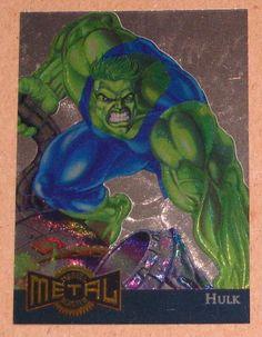 Marvel Metal (Fleer 1995) Gold Blaster Card #5 Hulk EX