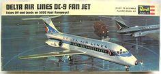 Revell 1/120 Douglas DC-9 Delta Airlines, H247-100 plastic model kit