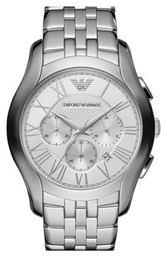 For the men - Emporio Armani Round Chronograph Bracelet Watch, 45mm | Nordstrom