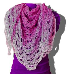 Lovely scarf pattern. Video tutorial for right and left handed crochet. Crochet chart.