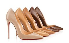 """This month, Louboutin presents pumps with wavy and mirage-like heels in the """"Deepik"""" and """"Dorissima"""" styles. Look at these shoes! So fun and fashion-forward"""