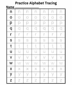 Kids can practice their handwriting skills by tracing all of the lowercase letters in the English alphabet. Learning the abc and practice writing the alphabet. Fun alphabet worksheets to learn all the lowercase letters. Download PDF. #alphabettracing #tracing #alphabet #alphabaterecognition #rvappstudios #homeschool2020 #learnthealphabat   Free Printable Alphabet Worksheets, Alphabet Tracing Worksheets, Free Kindergarten Worksheets, Worksheets For Kids, Free Printables, Alphabet Writing Practice, Alphabet For Kids, English Letter Writing, English Alphabet