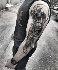 21 tattoo ideas for men trend 2019 - tattoo . - 21 tattoo ideas for the 2019 men& trend love flower The Effective - Wolf Tattoos, Warrior Tattoos, Leg Tattoos, Body Art Tattoos, Sleeve Tattoos, Samurai Tattoo Sleeve, Tatoos, 21 Tattoo, Tattoo Arm Mann